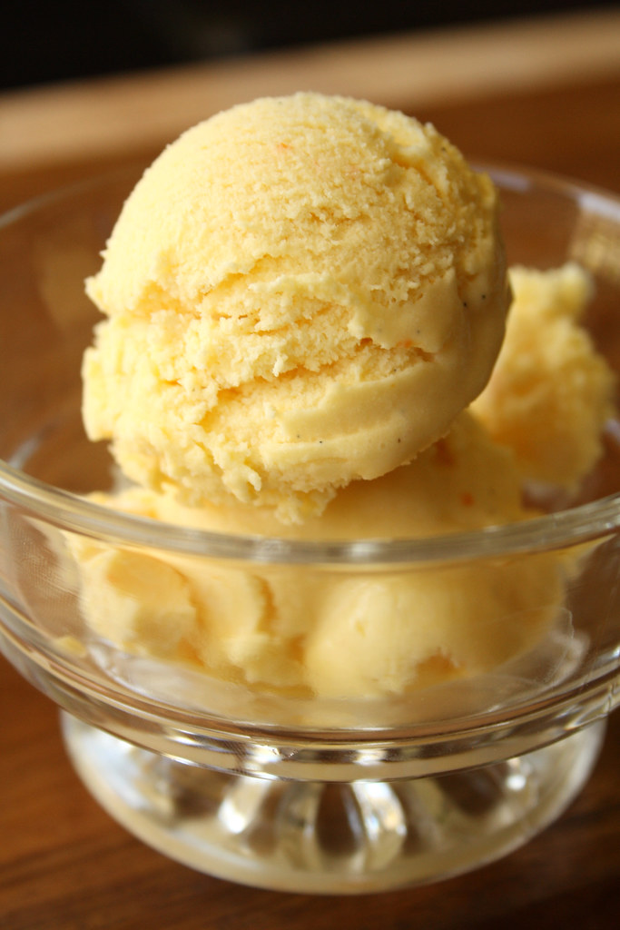 Orange Pineapple Ice Cream Take 1 - Suzie The Foodie