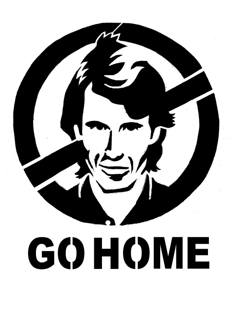 Thumb Michael Bay Go Home (Graffiti sign)