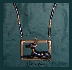 Anubis the great (javas roe) Tags: faience necklace amulet protect anubis afterlife ancientart afterworld ancientculture egyptiansymbol anpu wwwworldspiritartcom