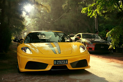 Good Morning Sunshine (anType) Tags: sports car yellow asia nissan ferrari exotic malaysia chameleon luxury scuderia supercar v8 kotabharu yellowferrari sportscar f430 kotabaru gtr 430 kotabahru kelantan paintwork r35 bachok worldcars tokbali giallomodena villadanialla jpmmotorsport kotabharusuperdrivechallenge2010