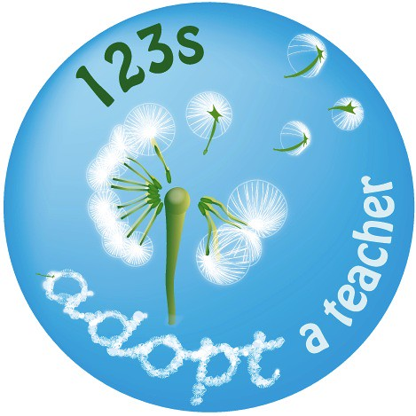 Adopt a Teacher logo - a 123s project