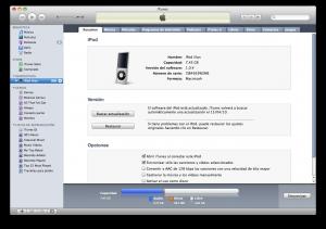 Como aumentar espacio libre de iPod con iTunes 9.1