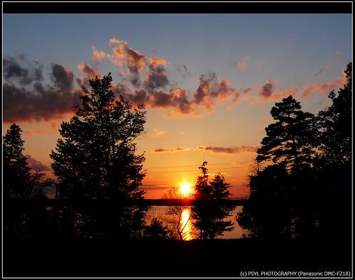 Sunset over Dalrymple Lake