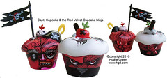 Custom Miss Cupcake Pirate and Ninja Designer Toys (Howie Green) Tags: toy designer ninja cupcake pirate miss
