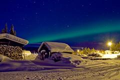 Northern Lights (Henrik Skupin) Tags: light building ice lamp night canon stars flickr sweden material tamron kiruna icehotel northernlight 1750mm eos7d