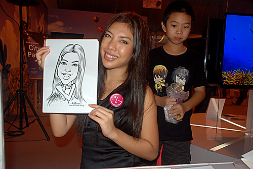 caricature live sketching for LG Infinia Roadshow - day 2 -5