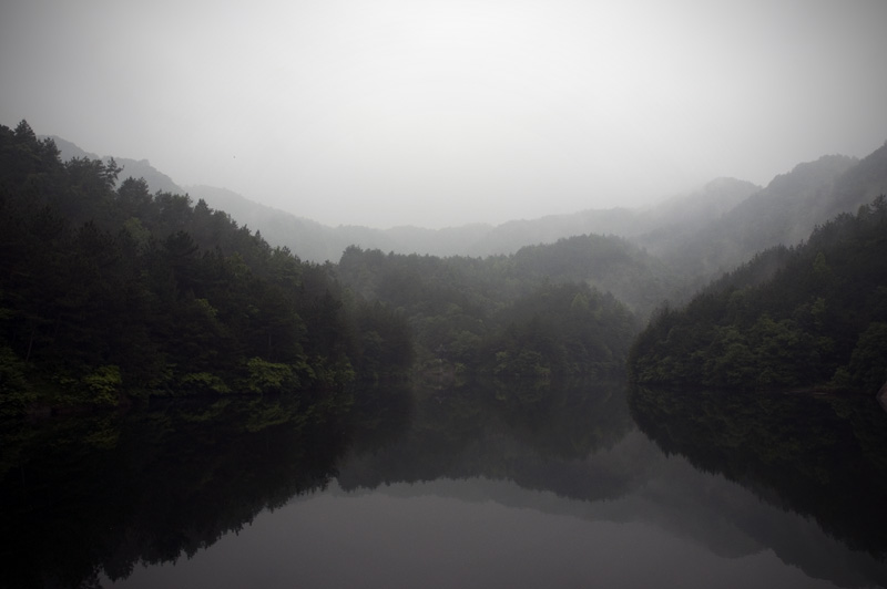 One of the many lakes you will encounter along the Mulan Moutain hike.