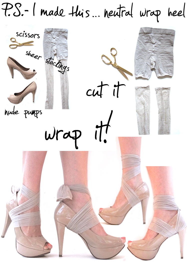 Fendi DIY wrap heels shoes SS2010 by PS I MADE THIS