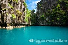 Tropical blue water and karst limstone cliffs on Miniloc Island (tommyschultz) Tags: asia southeastasia philippines 2009 marinemammal elnido palawan photooftheday palawanbest