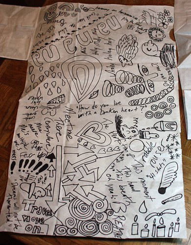 Doodles on grocery bag