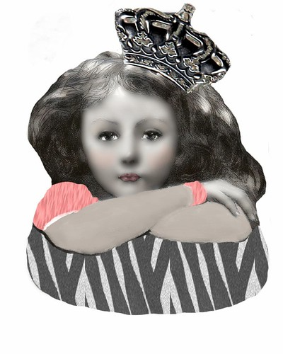 little girl with crown