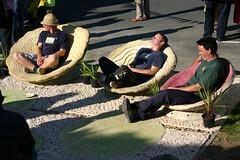 Sculptural Nutshell seating