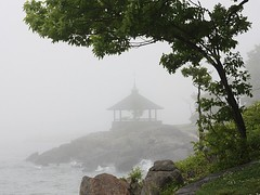 Morning Fog (donsutherland1) Tags: morning ny newyork nature water weather fog spring may gazebo 1001nights summerhouse longislandsound larchmont manorpark thegalaxy diamondclassphotographer flickrdiamond forstudents theunforgettablepictures forschools