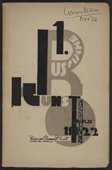 Erste russische Kunstausstellung (andreyefits) Tags: 1920s magazine cover soviet avantgarde constructivism ellissitzky