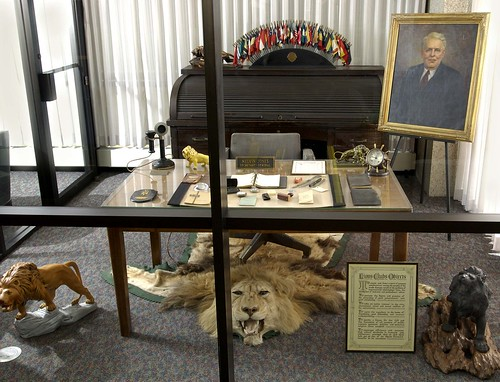 Melvin Jones office at Lions Clubs International headquarters in Oak Brook, Illinois, USA.