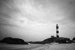 Explored! - Let the sky speak! - MPL 2 (2k Photography) Tags: ocean sea bw lighthouse beach water sand slow shutter karnataka  kaup arabiansea manipal 2k explored nd110 ~2|{~ pushpdeeppandey