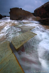 Forresters Beach (-yury-) Tags: ocean sea beach water waterfall rocks wave australia nsw centralcoast faorresters