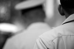 salute. (Revolution of the Heart) Tags: nyc blackandwhite men walking back question marines shoulder fleetweek loyal