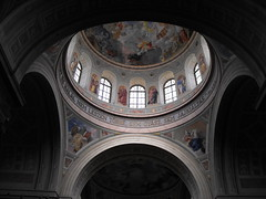 Eger Cathedral interior (shotlandka) Tags: church geotagged worship hungary catholic fuji cathedral interior eger christian dome finepix christianity   greatphotographers    platinumheartaward   s1000fd thegoldenphoenix 100commentgroup tripleniceshot ringexcellence