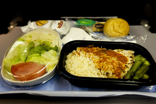 Dinner at the airplane