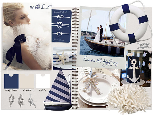 But this tie the knot nautical wedding is always in style and perfect for