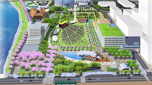 旧広島市民球場 跡地 完成図