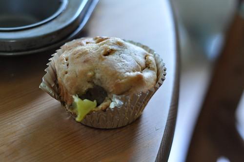 banana kiwi muffins!