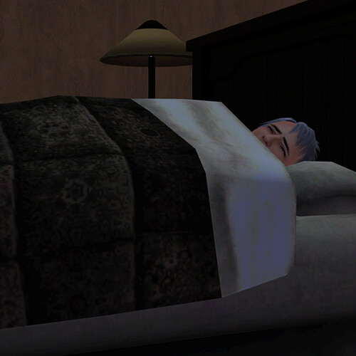 Ghost beds down for a restless night of sleep