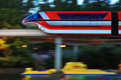 Disneyland - Mark VII Monorail (Silver1SWA (Ryan Pastorino)) Tags: california park orange motion blur speed train canon disneyland disney submarine theme monorail anaheim themepark canonef24105mmf4lisusm canon24105l canoneos40d disneyphotochallenge disneyphotochallengewinner markviimonorail