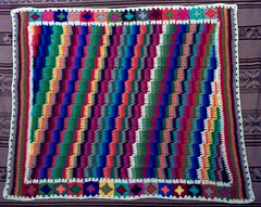 Scrappy Steps Afghan - COMPLETED (LauraLRF) Tags: lana colors squares crochet colores yarn blanket afghan granny manta scrappy tejido ganchillo cuadrados