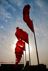 Red Flags (IanBrewer) Tags: china camera project asia nikond70 beijing places planetmagazine