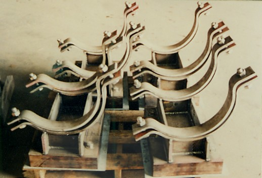 """Pipe Shoes For 14"""" Pipe At A LNG Plant"""