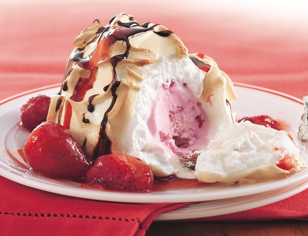 Double-Strawberry Baked Alaska Recipe