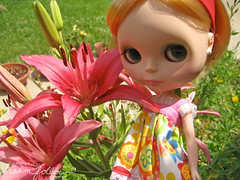 chloe in the lilies