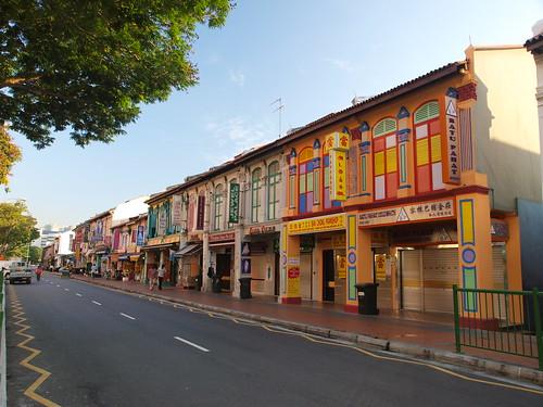 清晨的小印度區商店街