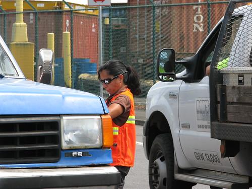Lena on duty