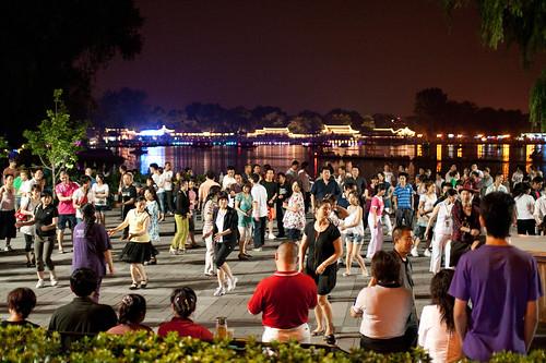 Night time dancing at Houhai