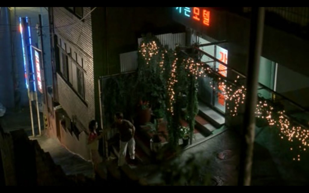 Korean storefront still from 2001 movie Nabbeun namja, Bad Guy