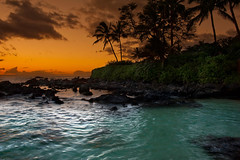 Relax (mojo2u) Tags: ocean sunset beach hawaii pacific cove secretbeach maui makena makenacove nikond700 nikon2470