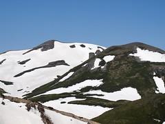 北鎮岳の残雪