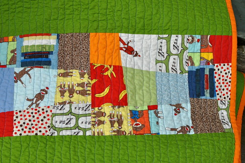 Daniel's Big-Boy Quilt - back detail