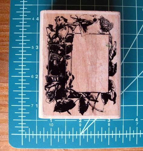 Victorian flower frame stamp