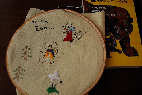 embroidering for