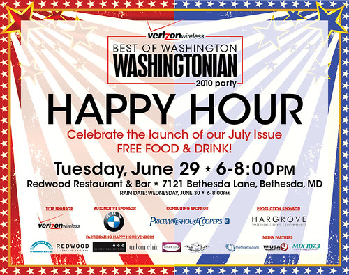 Washingtonian Happy Hour