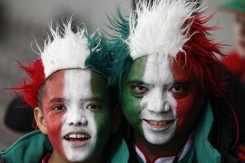 Mundial Sudáfrica hinchas caras pintadas México