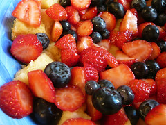 Cake and berries