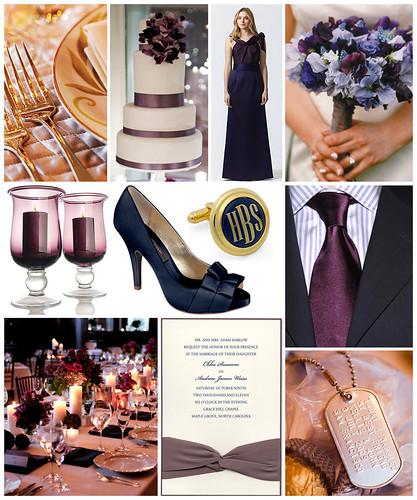 Plum and Navy Marine Wedding