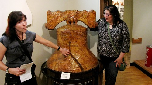 Touching the tobacco Liberty Bell