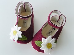 no 48 Baby Mary Jane Shoes (i think sew 1) Tags: baby flower wool socks shower pattern jane sewing mary felt gift corsage booties