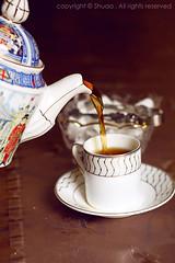 Good evening ({ Shuaa / ) Tags: morning sun canon 50mm evening tea  tae   cnon     canon450d shuaa